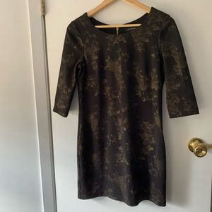 3/4 sleeves Mini Le Château dress black an…